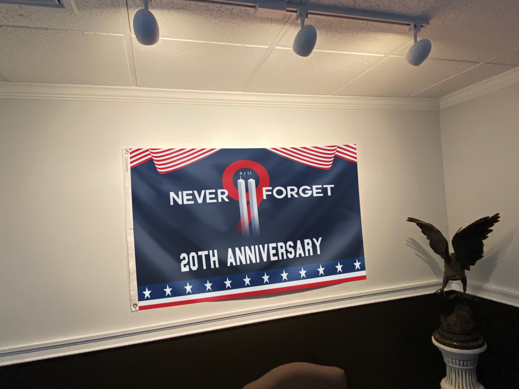 Never Forget 9.11 Two Towers - 20th Anniversary Flag - Picture 2