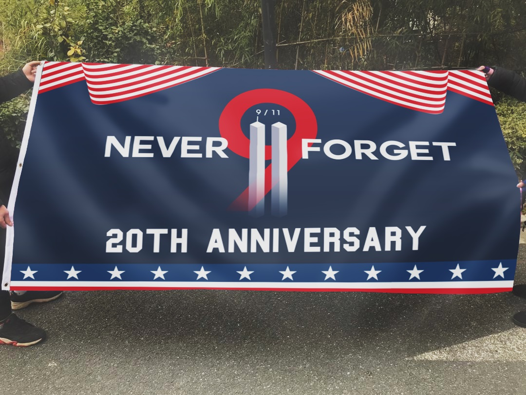 Never Forget 9.11 Two Towers - 20th Anniversary Flag - Picture 3