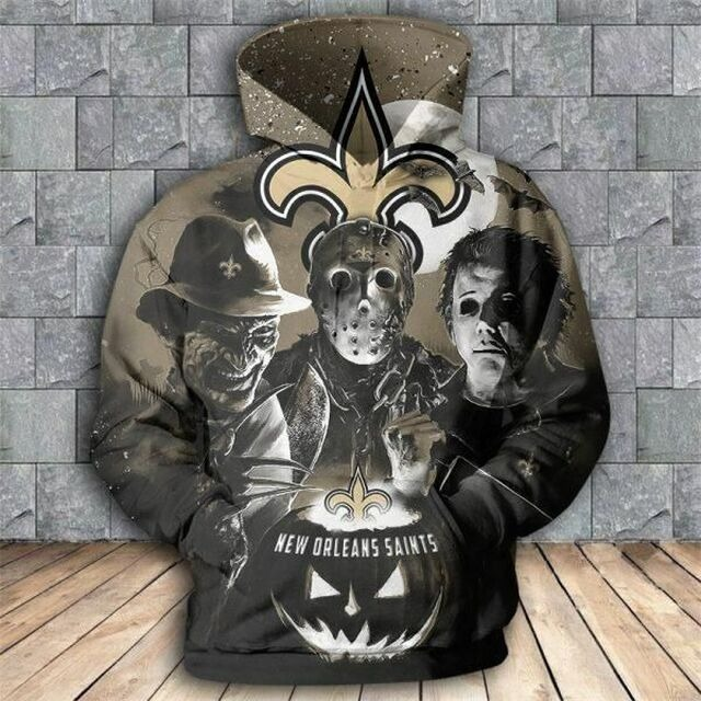 [Hot Trend] New Orleans Saints Halloween Horror Night 3D Pullover Hoodie - Hothot 050921