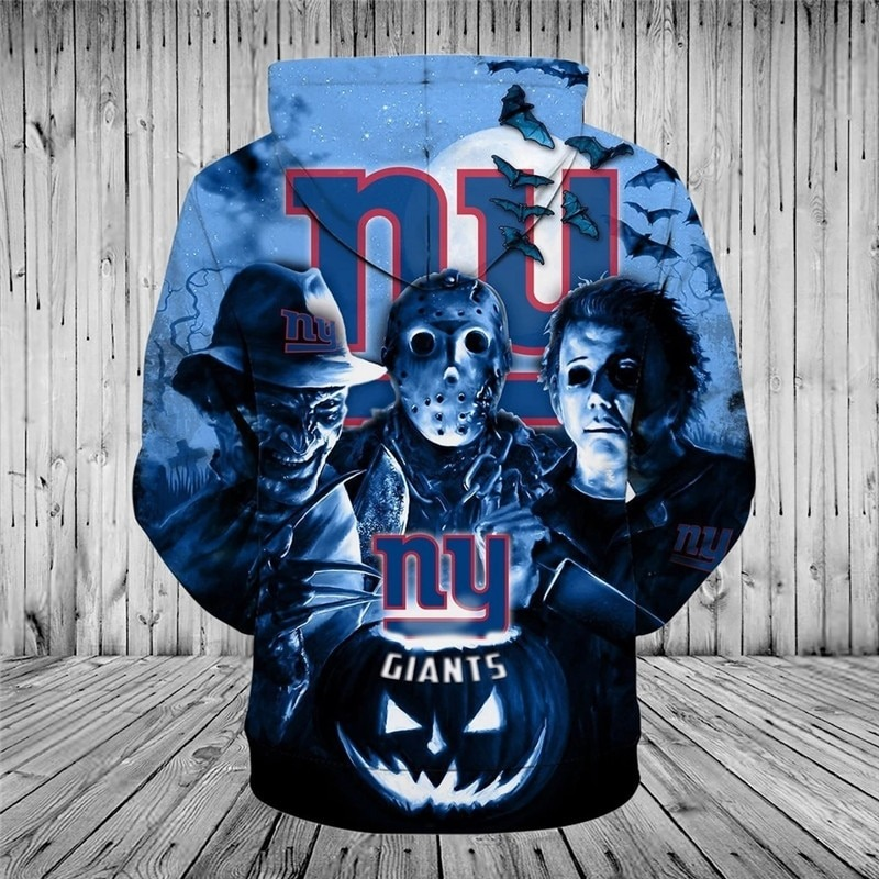 [Hot Trend] New York Giants Halloween Horror Night 3D Pullover Hoodie - Hothot 050921