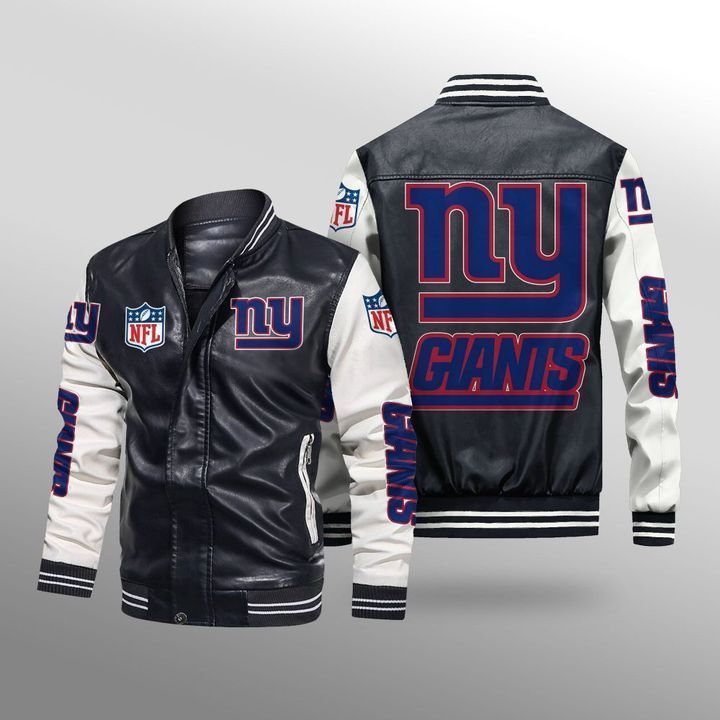 New York Giants Leather Bomber Jacket - LIMITED EDITION