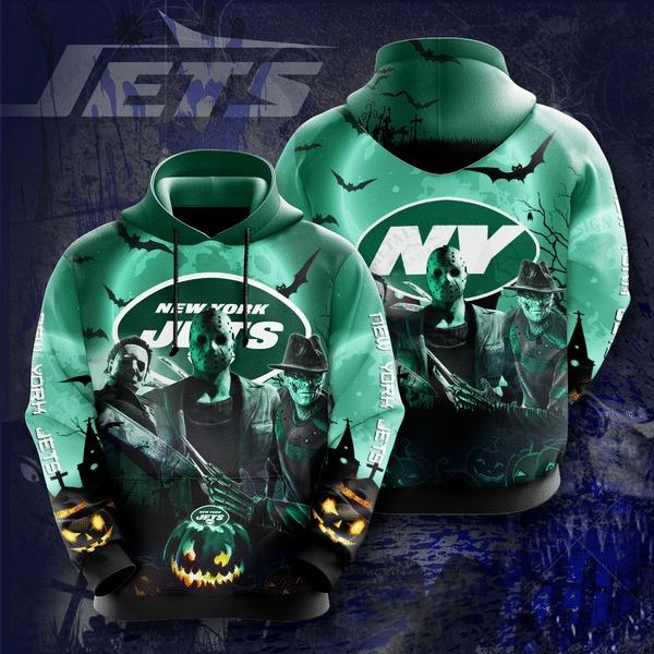 New York Jets Halloween Horror Night 3D Pullover Hoodie
