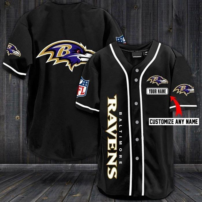 Nfl baltimore ravens custom name baseball jersey shirt - LIMITED EDITION
