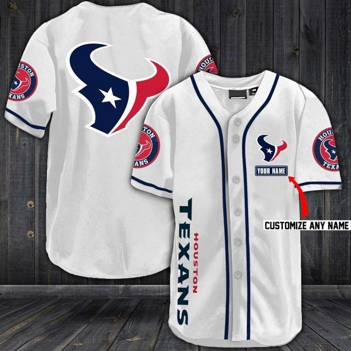 Nfl houston texans baseball jersey shirt - LIMITED EDITION