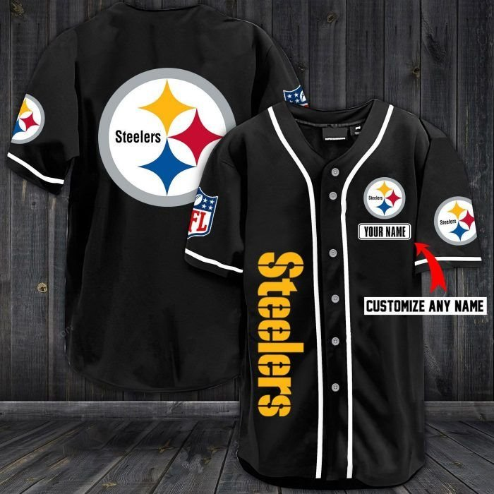 Nfl pittsburgh steelers baseball jersey shirt - LIMITED EDITION