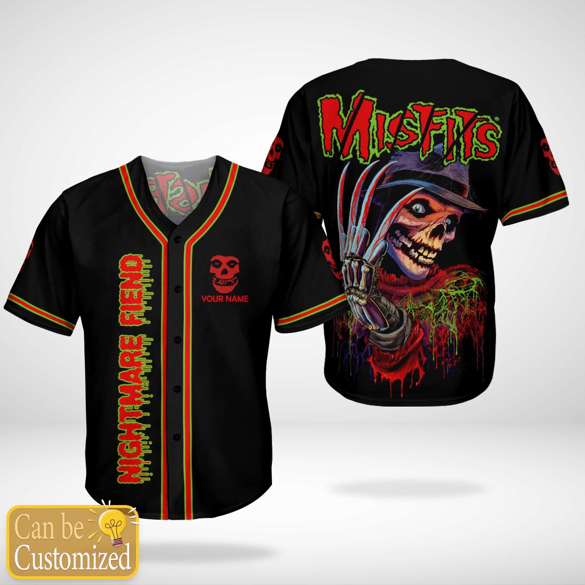 Nightmare Fiend Misfits Custom Name Baseball Jersey Shirt - LIMITED EDITION