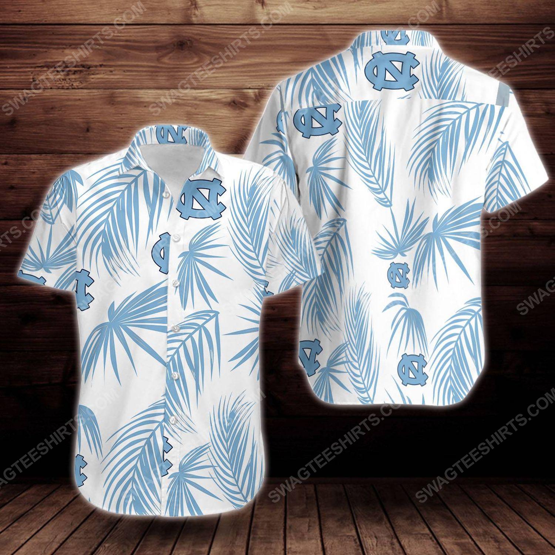 North carolina tar heels short sleeve hawaiian shirt 1