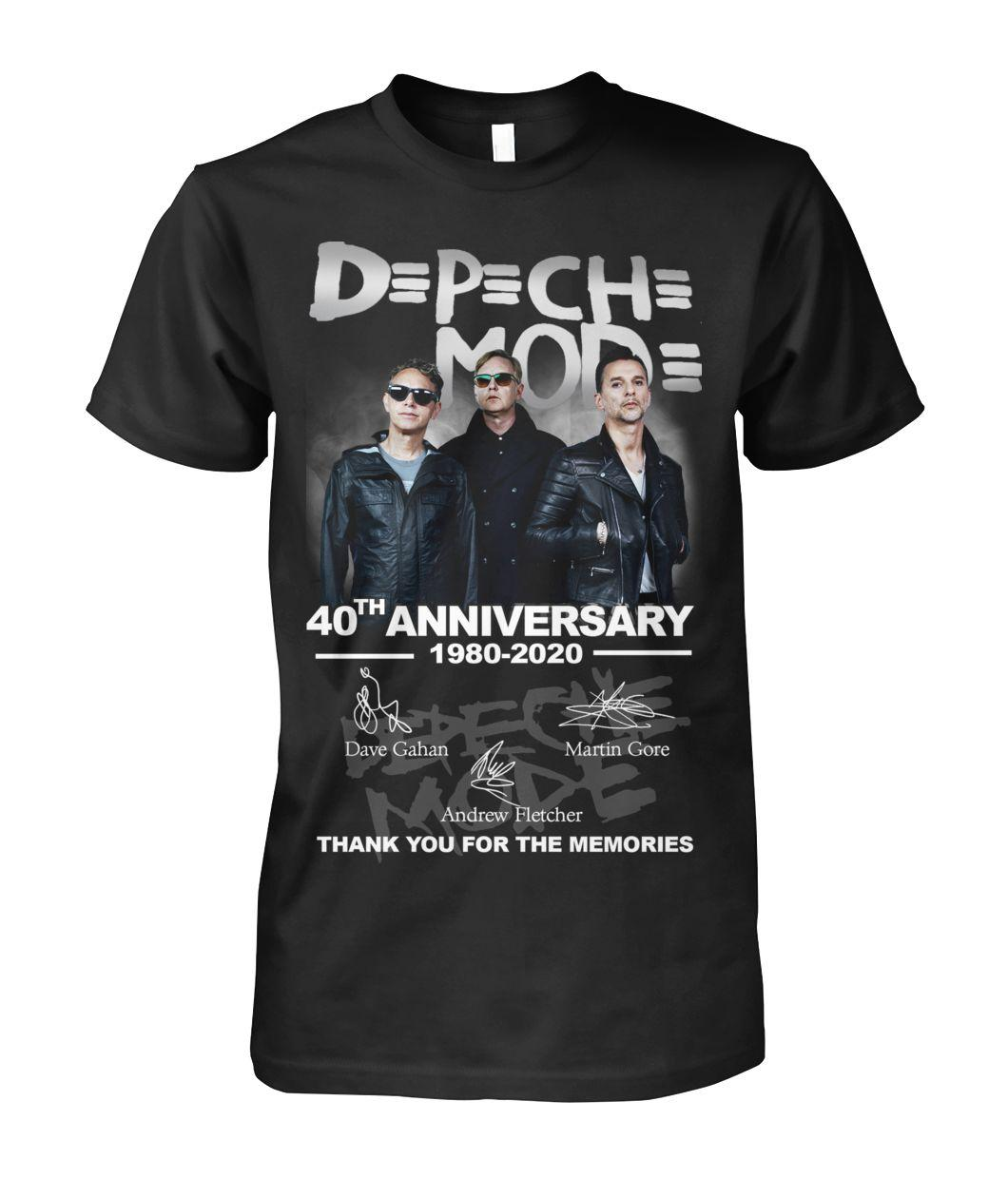 DPCH MOD 40th Anniversary 1980 2020 Thank You For The Memories Signature shirt