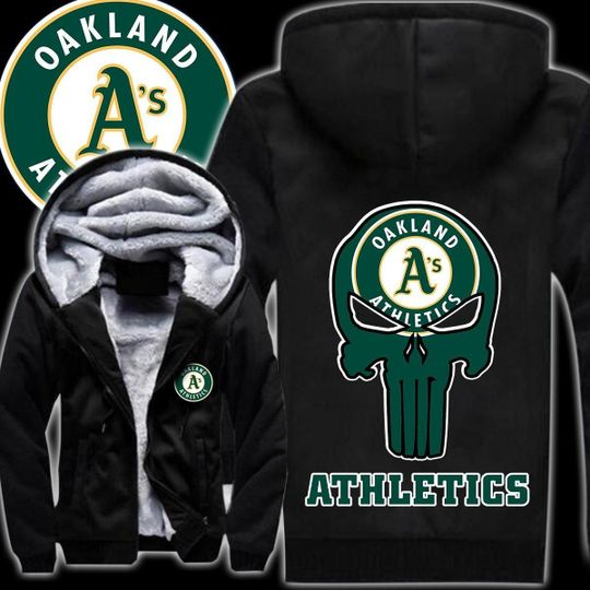 Oakland athletics 3d all over print hoodie1
