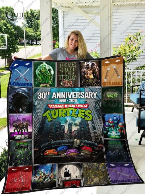 30th anniversary teenage mutant ninja turtles quilt blanket