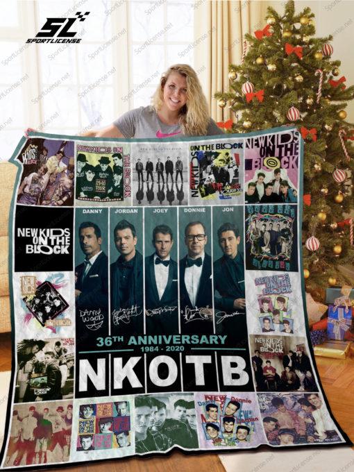 NKOTB 36th Anniversary 1984 2020 Quilt Blanket