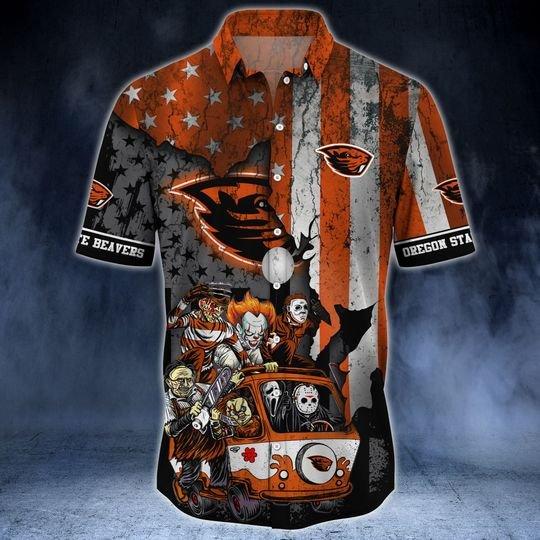 Oregon State Beavers Summer Hawaiian Shirt  -BBS