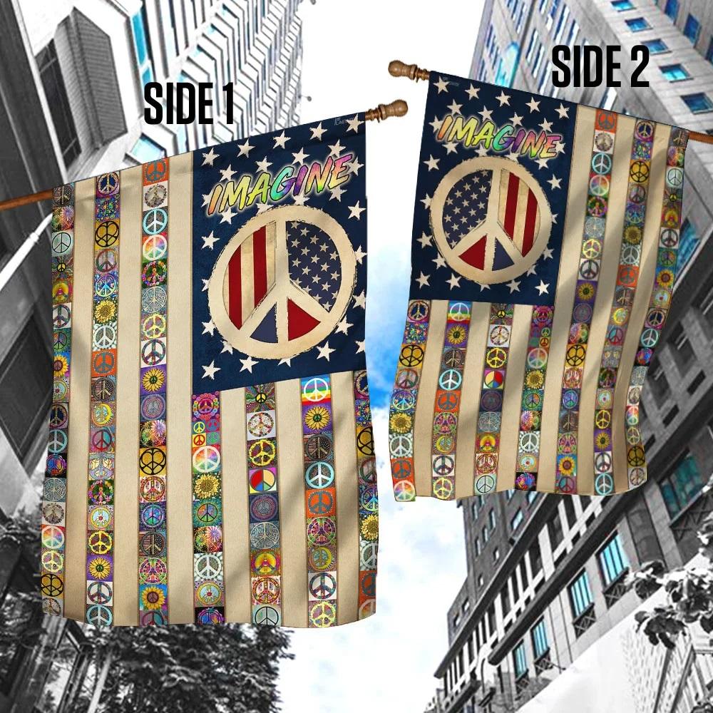 Peace sign hippie flag
