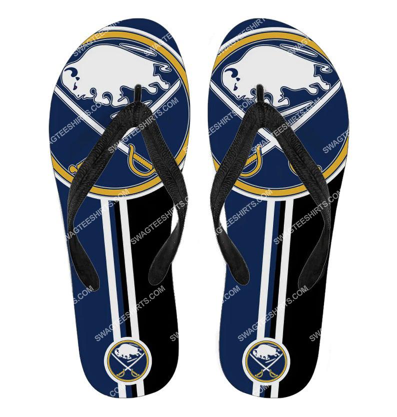 national hockey league buffalo sabres full printing flip flops 2