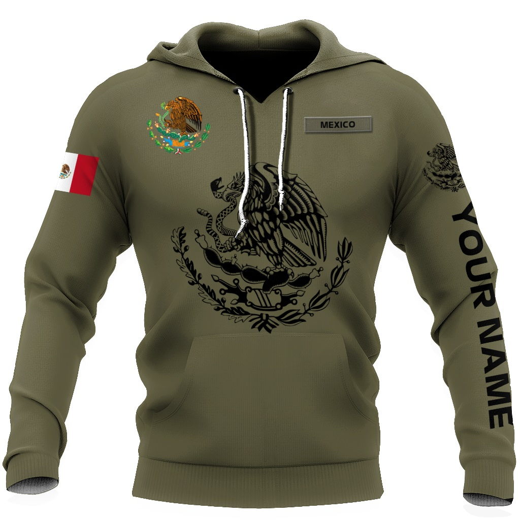 Personalized Mexican 3d all over printed hoodie
