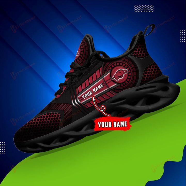 Personalized Name Arkansas Razorbacks NCAA Clunky Max Soul Sneaker