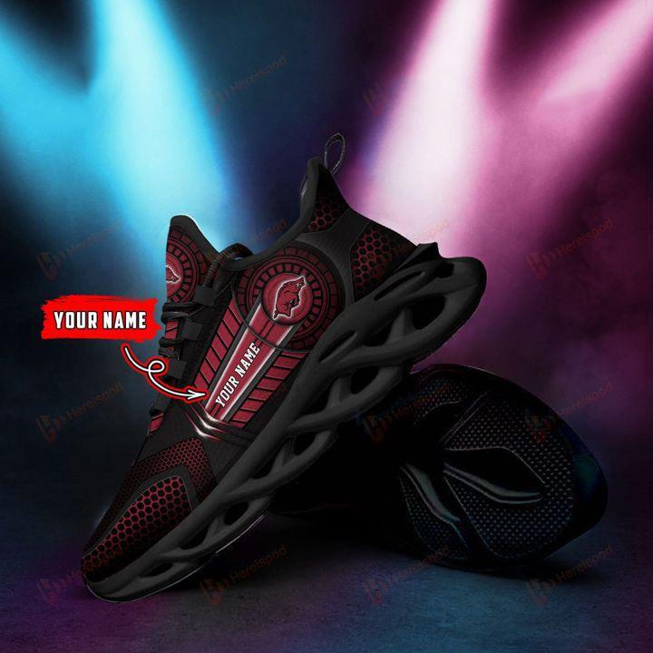 Personalized Name Arkansas Razorbacks NCAA Clunky Max Soul Sneaker - Hothot 070921