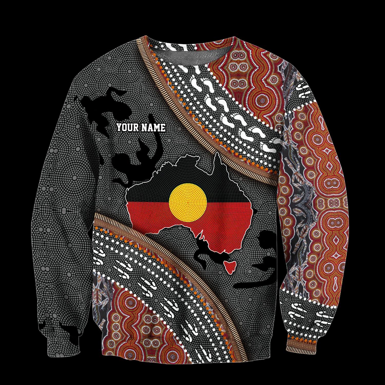 [HOT TREND] Custom name Aboriginal dots 3d hoodie and shirt - Hothot 060921