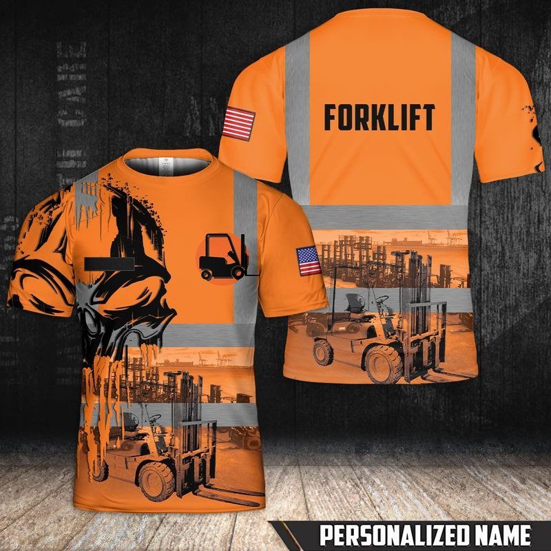 Personalized Name Forkilft 3D T-Shirt - Hothot 010921
