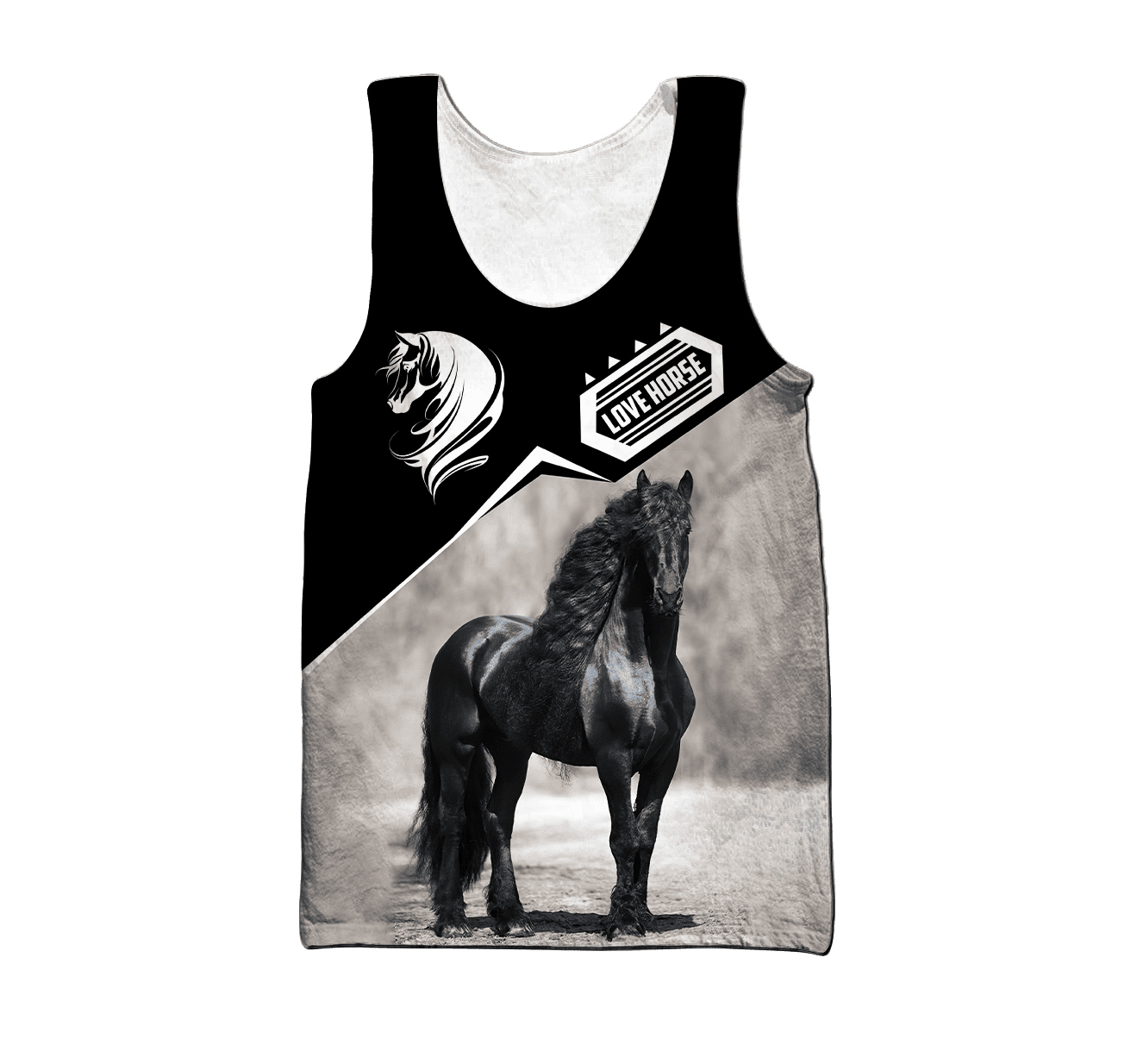 [HOT TREND] Personalized Name Friesian Horse 3D All Over Printed Unisex Shirt - Hothot 070921