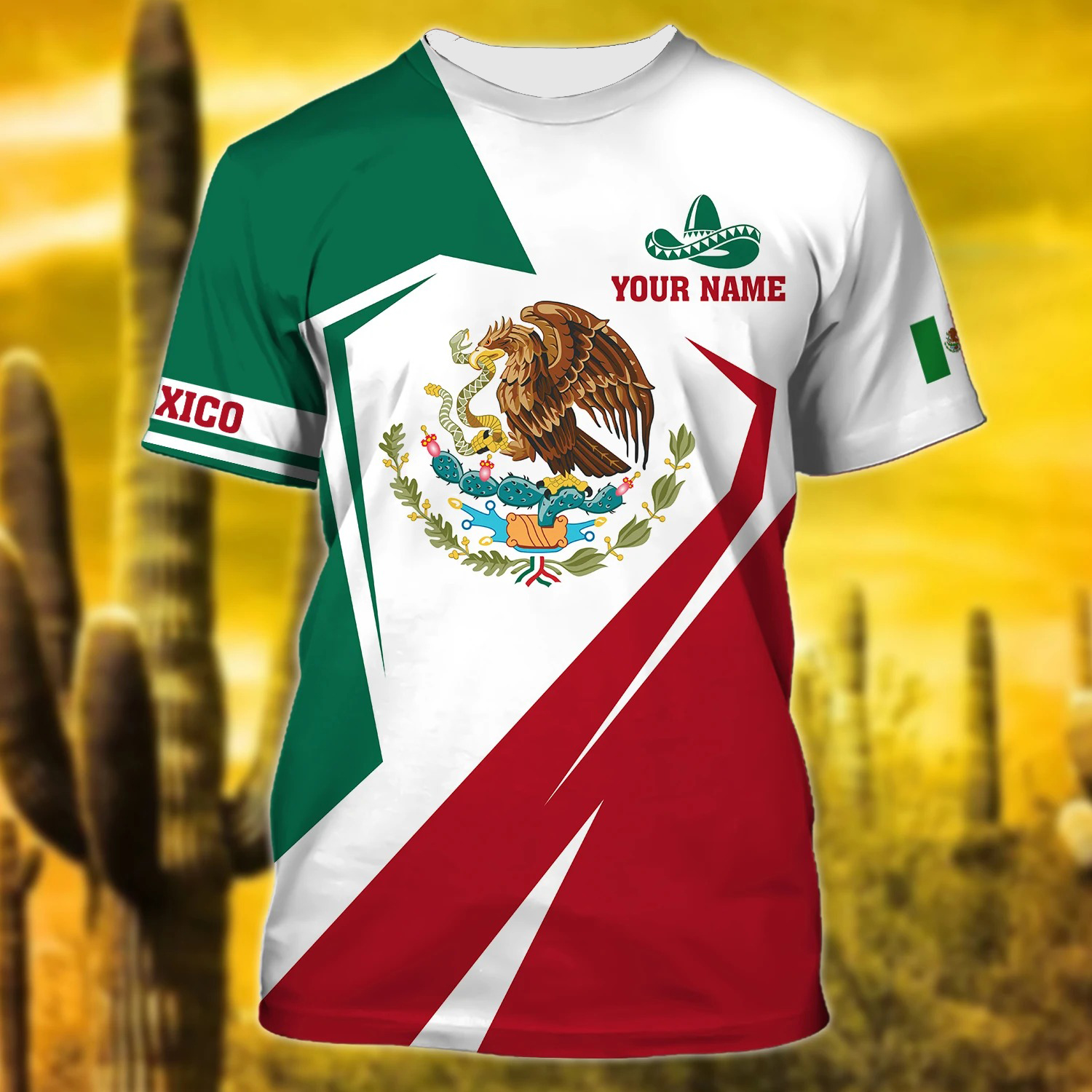 Personalized Name Mexico 3D Unisex Shirt