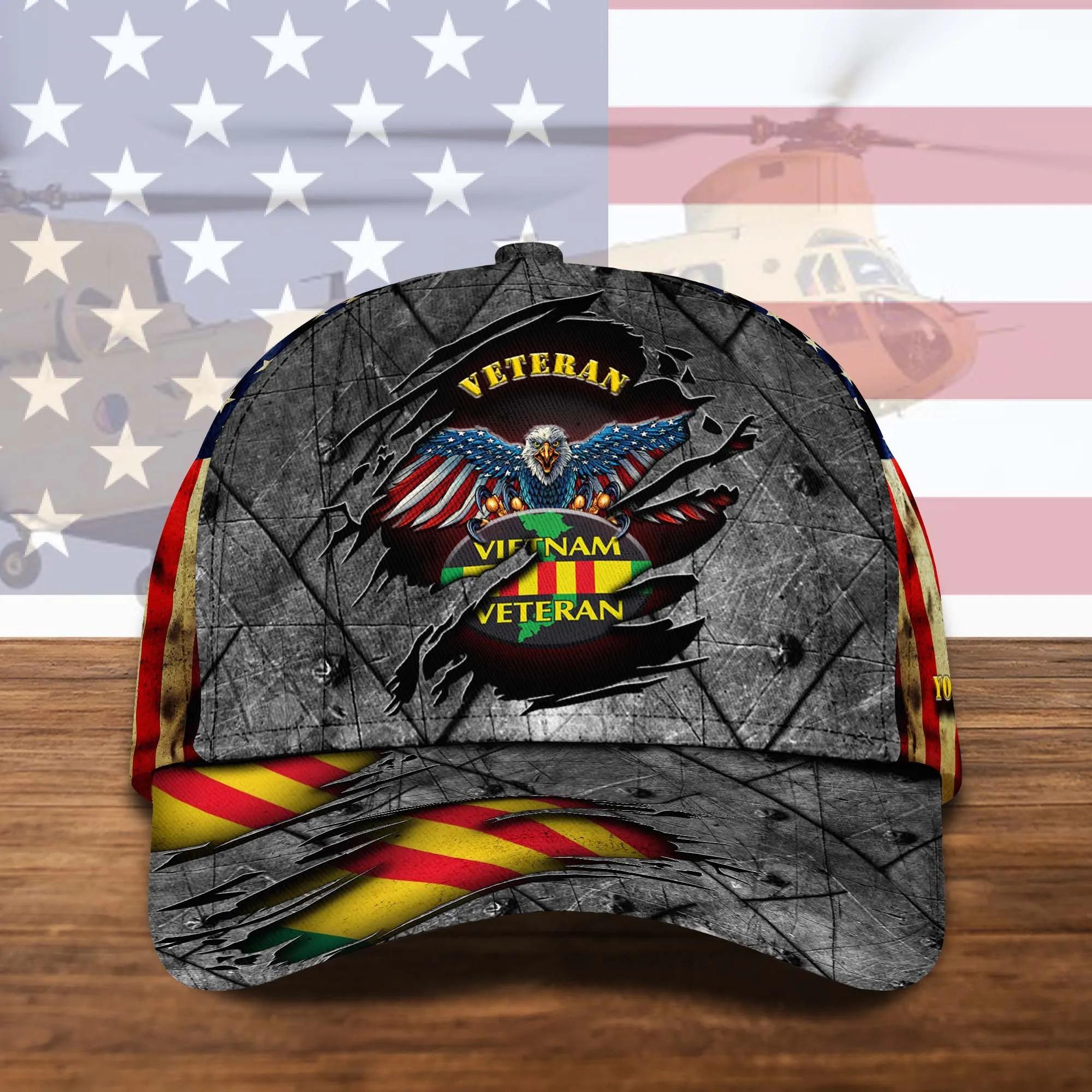Personalized Name Vietnam Veteran Classic Hat Cap - Hothot 070921
