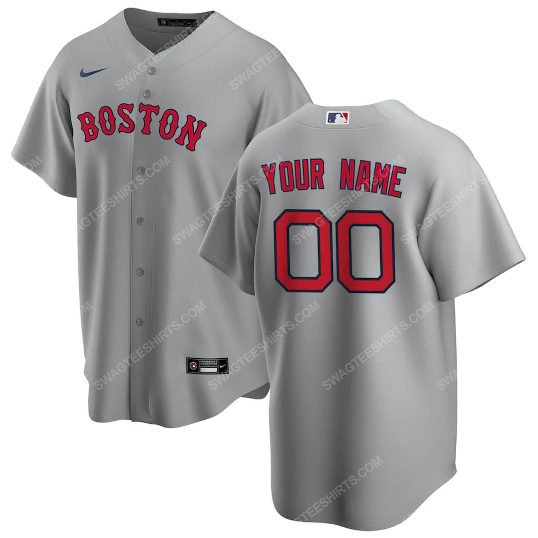Personalized mlb boston red sox baseball jersey-gray