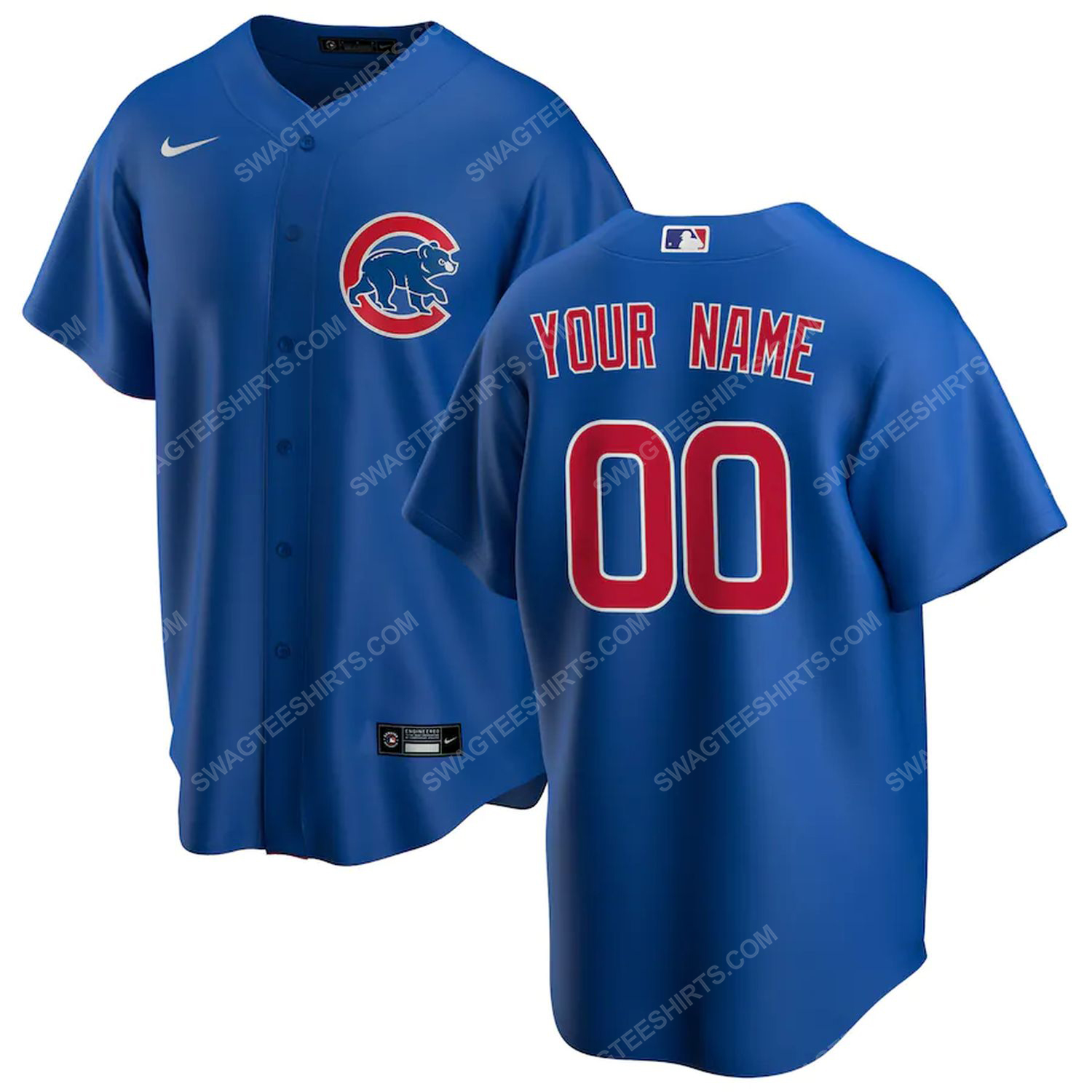 Personalized mlb chicago cubs team baseball jersey-royal