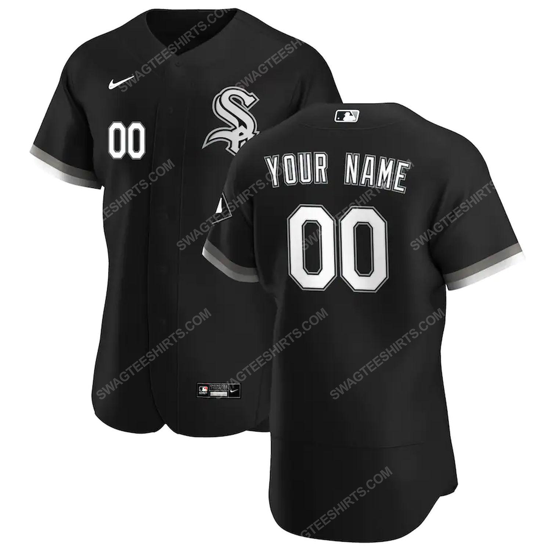 Personalized mlb chicago white sox baseball jersey-black