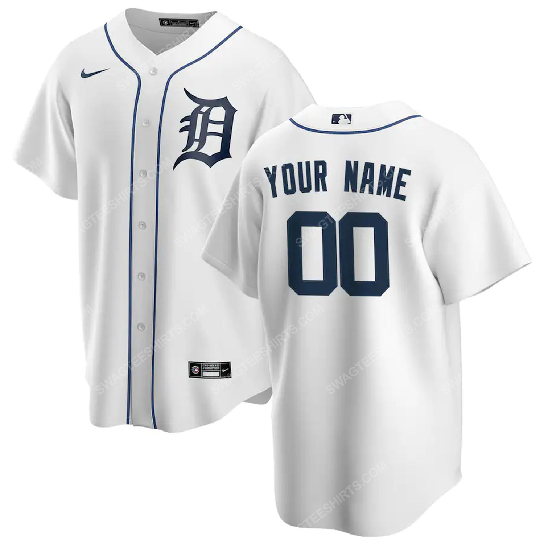 Personalized mlb detroit tigers team baseball jersey-white