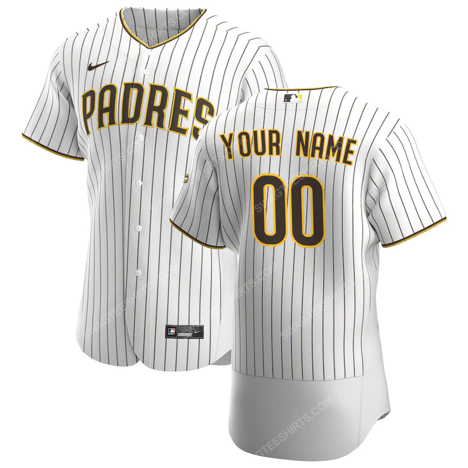 Personalized mlb san diego padres baseball jersey-white