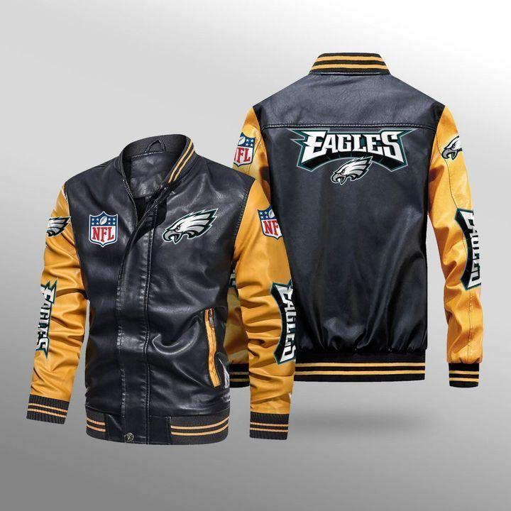 Philadelphia Eagles Leather Bomber Jacket - LIMITED EDITION