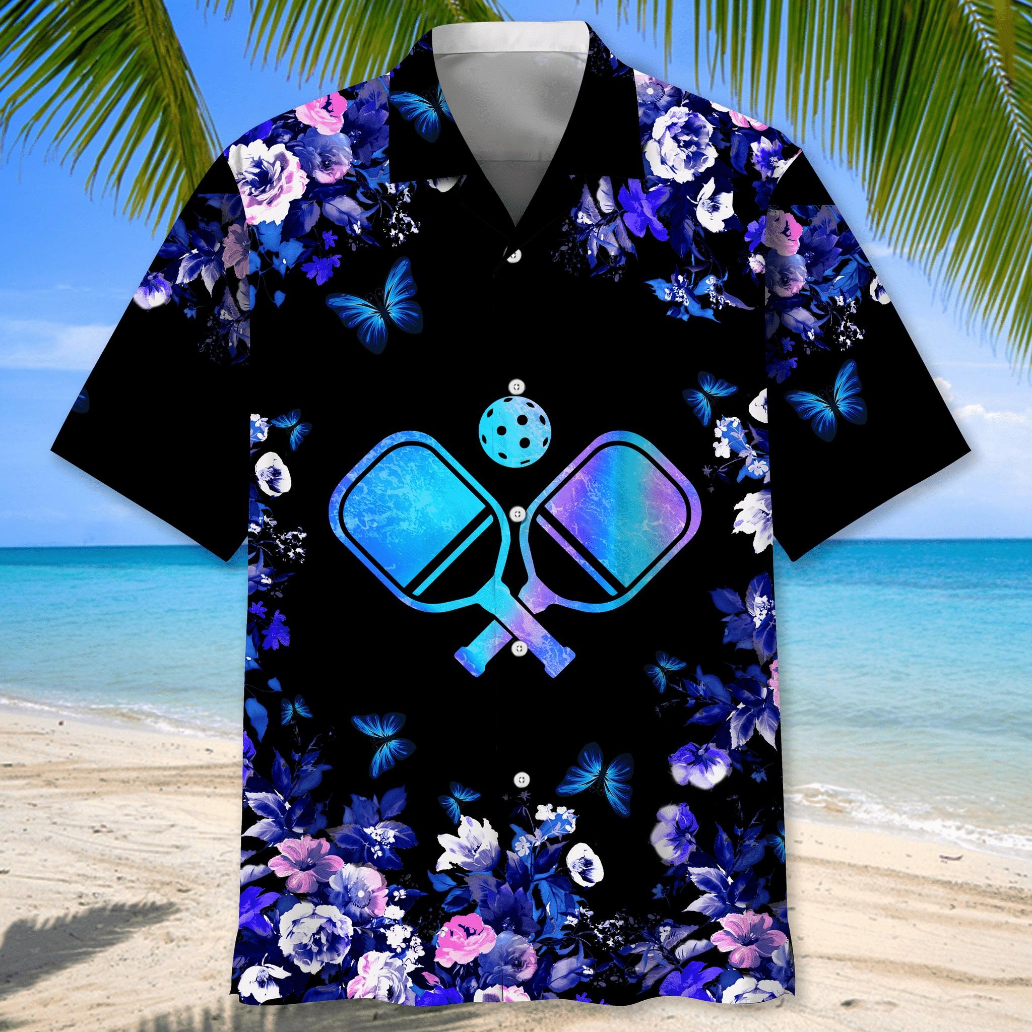 Pickleball nature hawaiian shirt