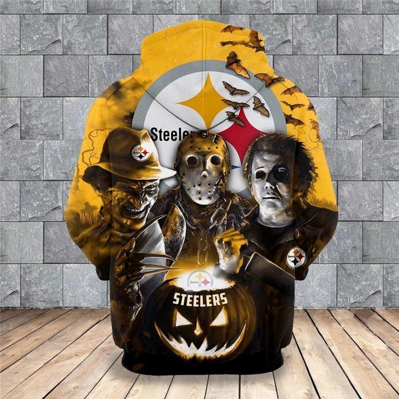 [Hot Trend] Pittsburgh Steelers Halloween Horror Night 3D Pullover Hoodie - Hothot 050921