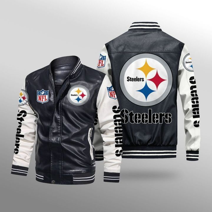 Pittsburgh Steelers Leather Bomber Jacket - LIMITED EDITION