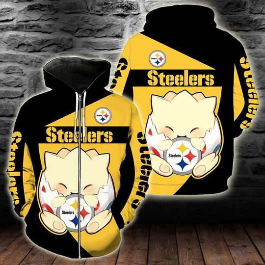 Pittsburgh steelers Togepi pokemon 3d hoodie - LIMITED EDITION
