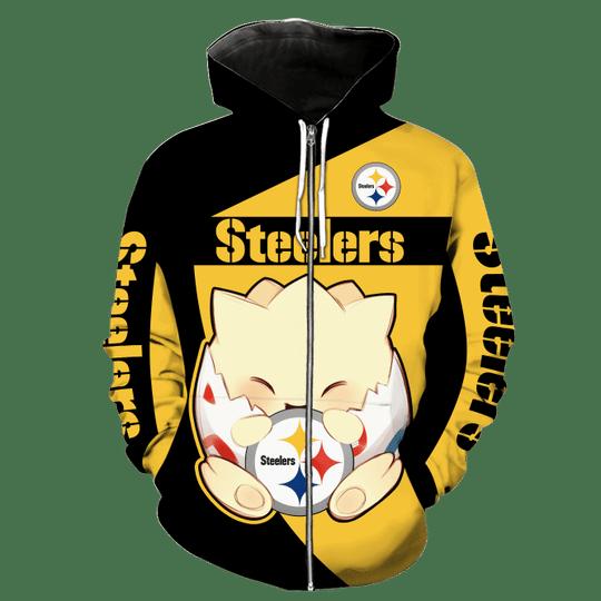 Pittsburgh steelers Togepi pokemon 3d hoodie4