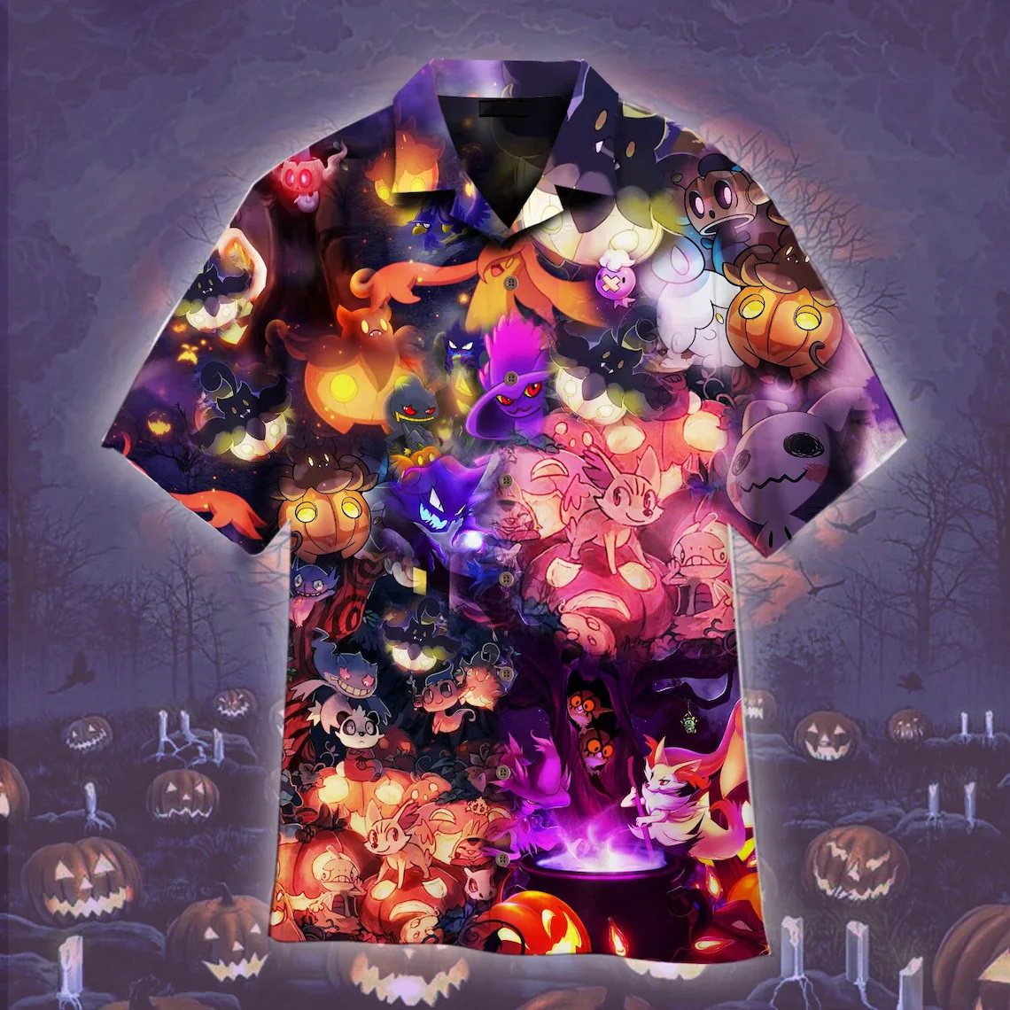 Pokemon Halloween Hawaiian Shirt