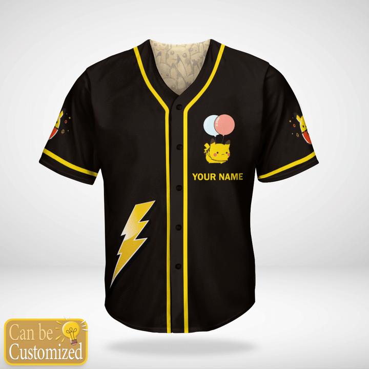 Pokemon Pikachu Custom Name Baseball Jersey - LIMITED EDITION