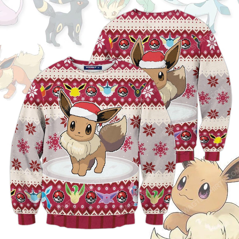 Pokemon eeveelution christmas holiday ugly christmas sweater 1