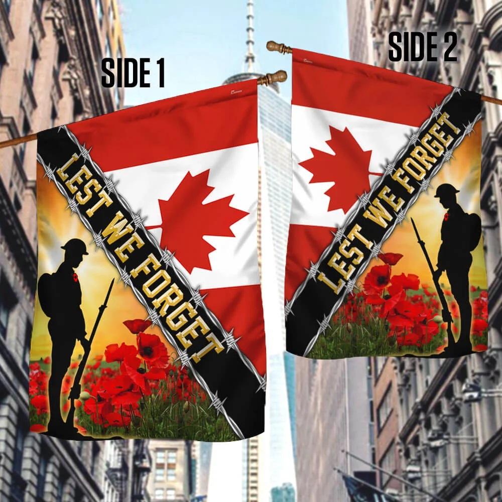 Remembrance Day Flag Poppy Lest We Forget Veteran Flag