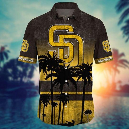 San Diego Padres MLB Summer Hawaiian Shirt, short -BBS