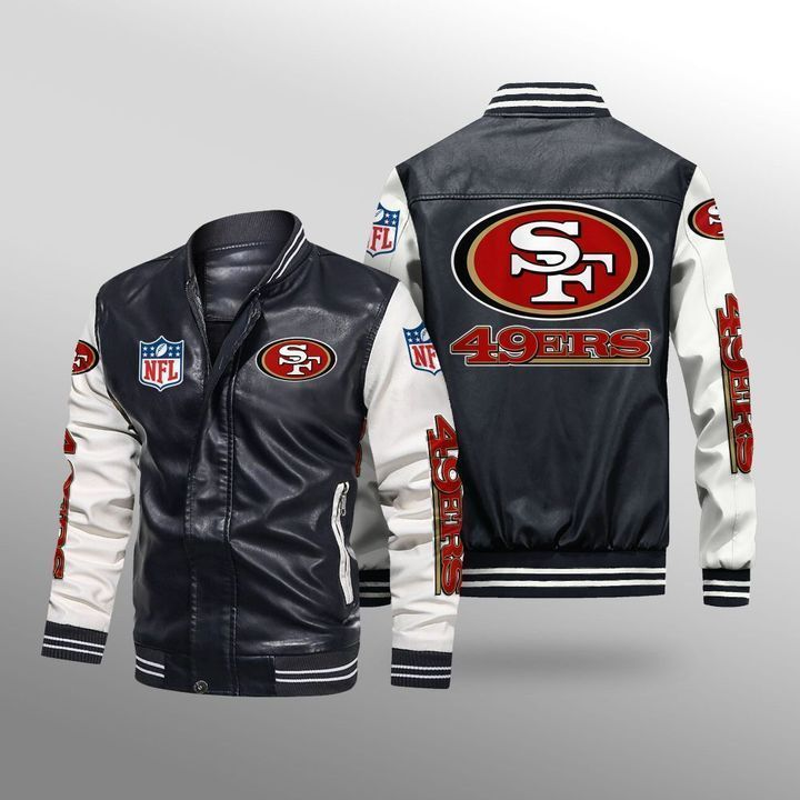 San Francisco 49ers Leather Bomber Jacket - LIMITED EDITION