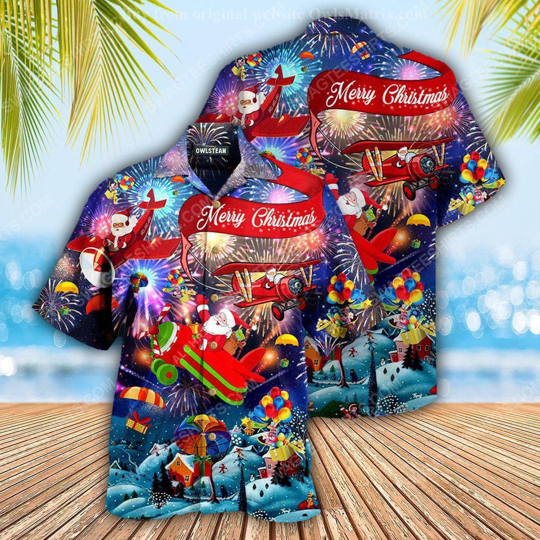 Santa claus and merry christmas full print hawaiian shirt 1 - Copy (2)