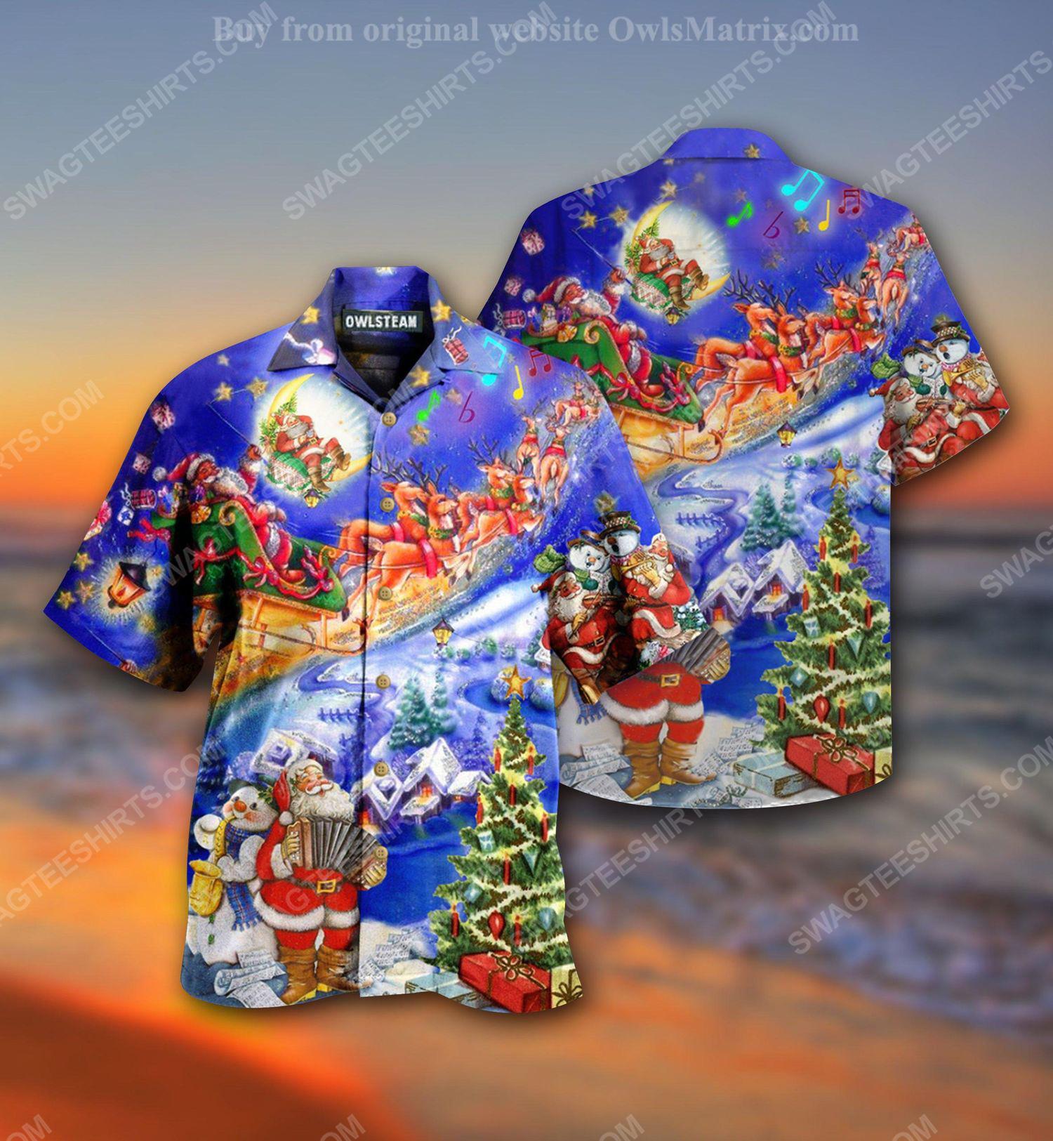 Santa claus loves christmas holiday full print hawaiian shirt 1 - Copy (2)