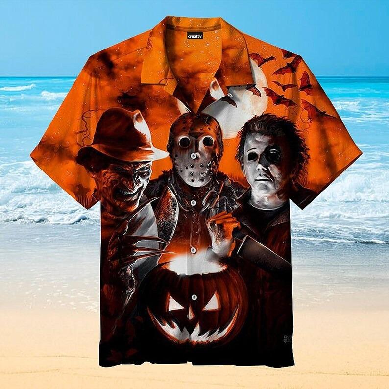 Sceaming Funny Halloween Hawaiian Shirt