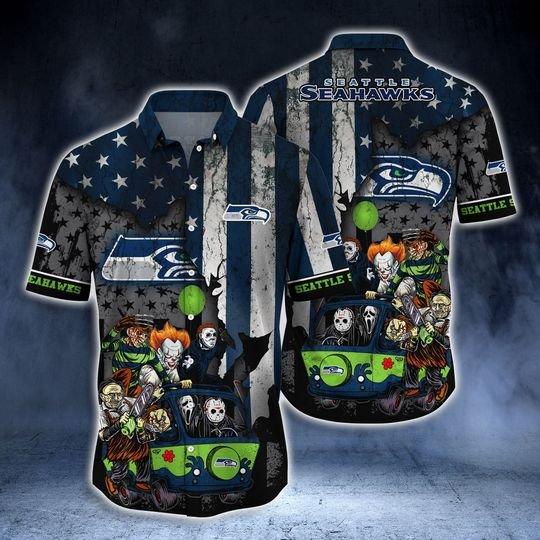 Seattle Seahawks Summer Hawaiian Shirt -BBS