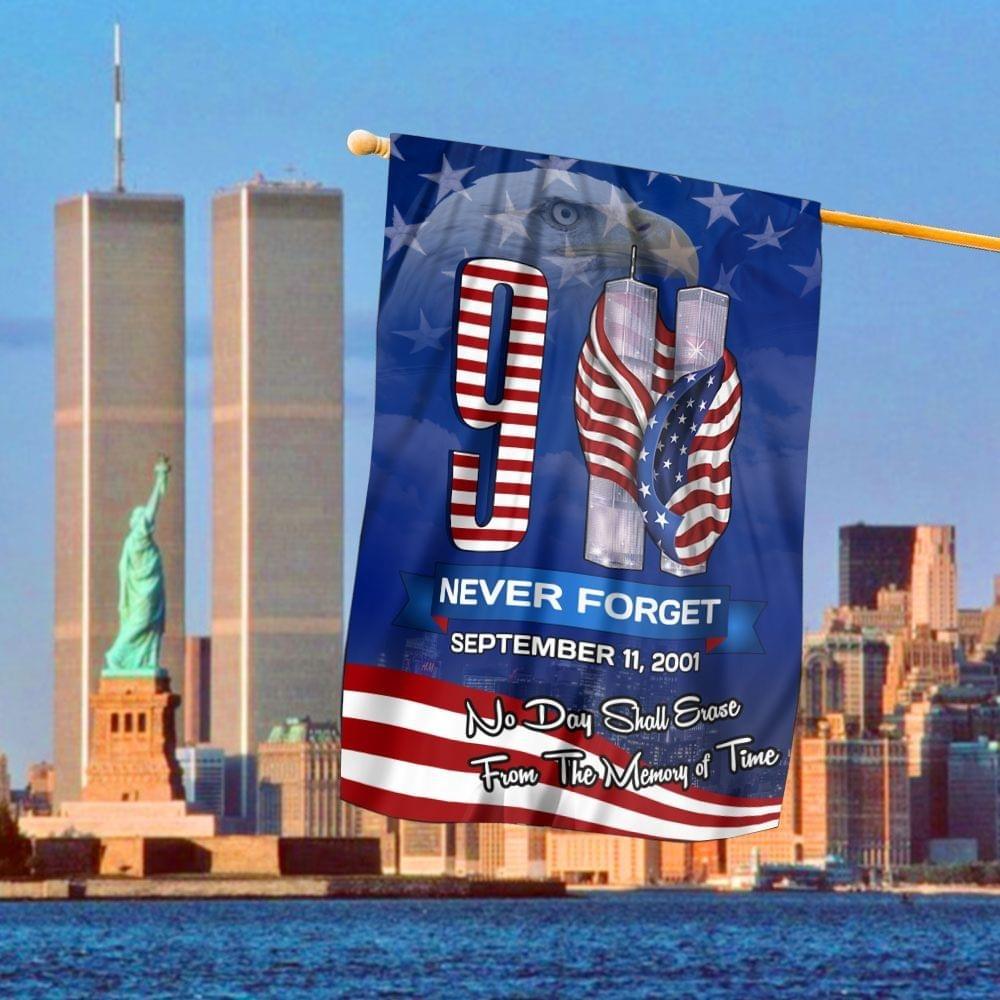September 11th 2001 Never Forget Eagle Flag