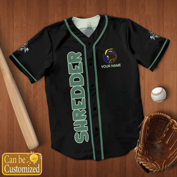 Shredder Custom Name Baseball Jersey Shirt - LIMITED EDITION