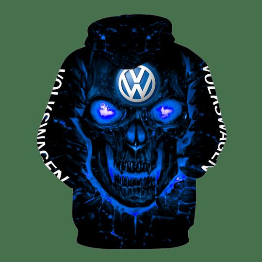 Skull Volkswagen 3d all over print hoodie2